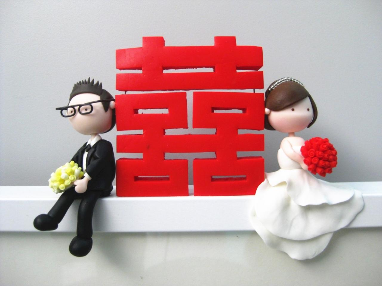 Chinese Wedding Mantou Photo Frame - Made to Order