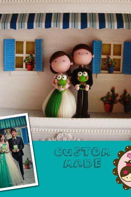 Custom made Clay Figurine In Frame Box - Made to Order